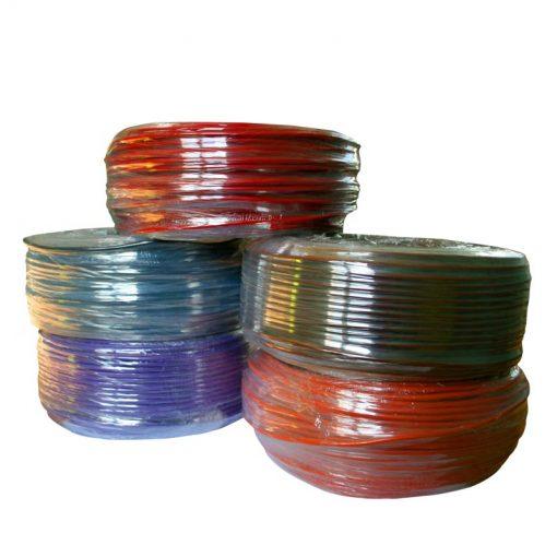 fil électrique blindé de 1.5 mm². disponible en rouge, noir, orange, marron et violet.