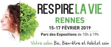 salon respire la vie à Rennes du 15 au 17 février 2019