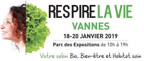 salon respire la vie à Vannes du 18 au 20 janvier 2019