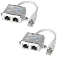 Lot de 2 éclateurs de port RJ45 Blindé Ethernet + Ethernet