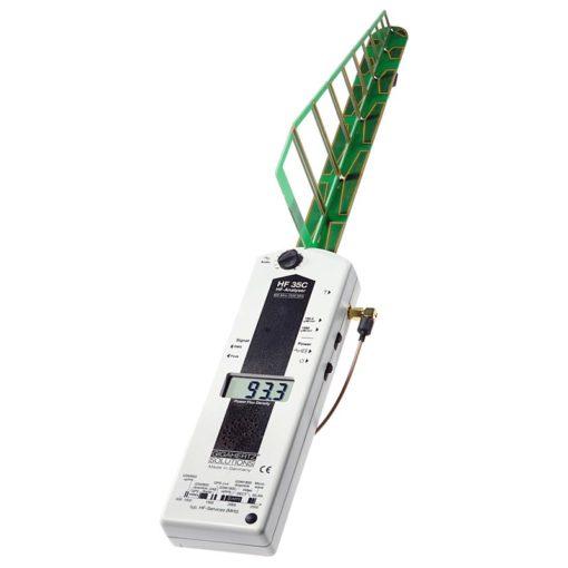 Le gigahertz HF35C est un appareil de mesure de rayonnements électromagnétiques hautes fréquences (Fréquences 800 à 2500 MHz).