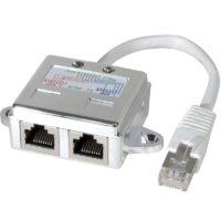 Lot de 2 éclateurs de port RJ45 Blindé Ethernet + Téléphone