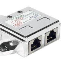 Lot de 2 éclateurs de port RJ45 Blindé Ethernet + Ethernet