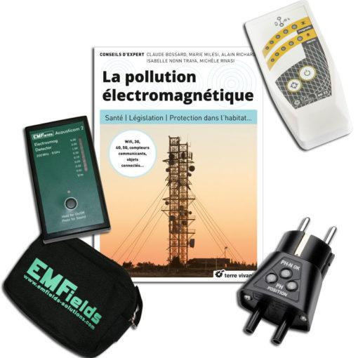 Kit complet de détecteurs de champs électromagnétiques comprenant