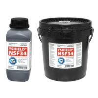 Peinture anti-ondes Basses Fréquences YSHIELD NSF34 disponible en pot de 1 l, bidon de 5l et flacon de 25cl