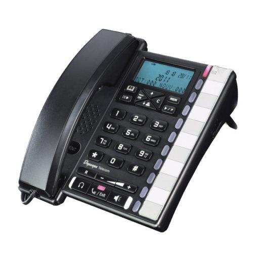 téléphone filaire avec prise casque de marque depaepe