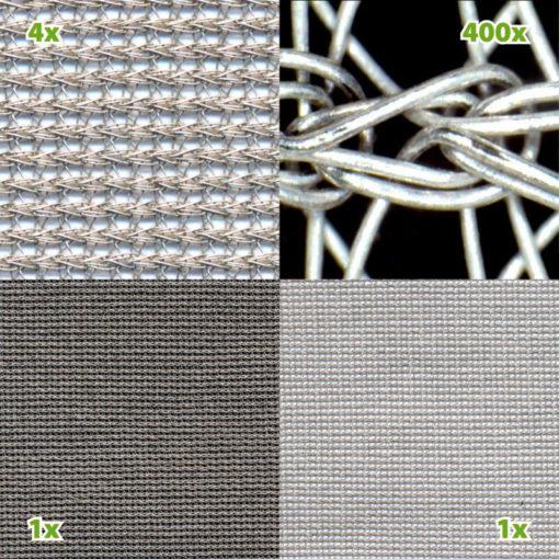 tissu anti-ondes hautes (50 dB à 1 GHz) et basses fréquences SILVER-TULLE.