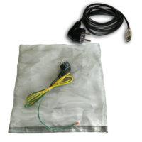 pack comprenant une housse, étui anti-ondes pour Box Internet (livebox, bbox, sfr box, freebox,...) + un cordon USB de mise à la terre