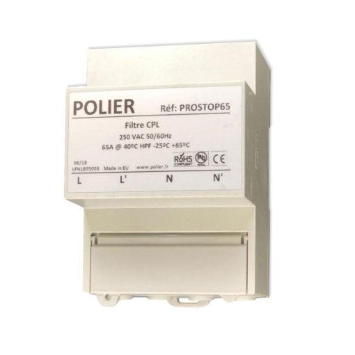 Le filtre PROSTOP65 de chez POLIER est un filtre CPL large bande. Il permet de stopper tout courant CPL (courant porteur en ligne) des différentes bandes CENELEC (CENELEC A Linky, B, C et D) de rentrer et de se propager sur le réseau électrique de votre habitation avec une atténuation de 40 dB (99.99 %).