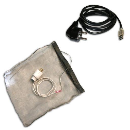 pack étui anti ondes box internet avec cordon usb de mise à la terre