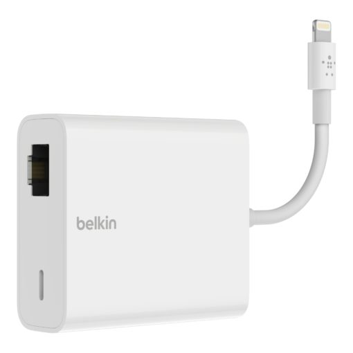 adaptateur ethernet + Lightning pour ipad, iphone te ipod (belkin b2b165)