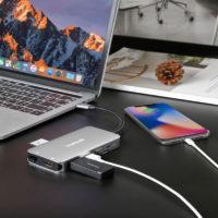 Hub USB type C multifonction 9 en 1 pour ordinateur portable (macbook, ultrabook, notebook, zenbook, chromebook,...)
