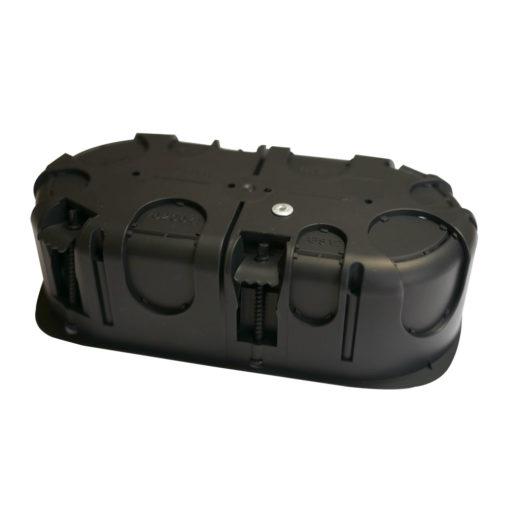boitier électrique blindée / faradisé double rond multimatériaux (tout type de cloisons : maçonnerie, cloisons sèches) diamètre 67 mm profondeur 40 mm