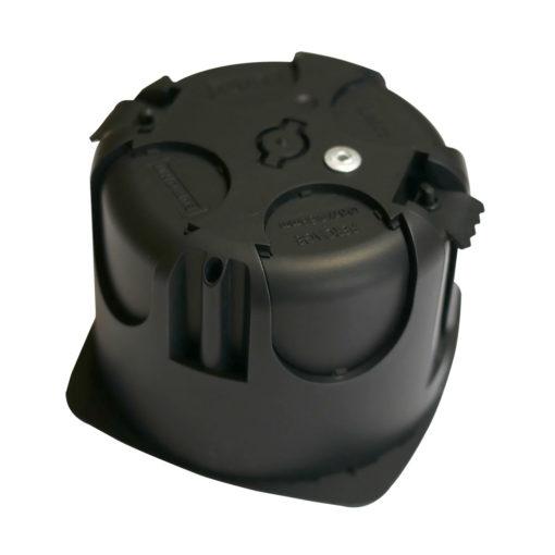 boitier électrique blindée / faradisé rond multimatériaux (tout type de cloisons : maçonnerie, cloisons sèches) diamètre 67 mm profondeur 50 mm