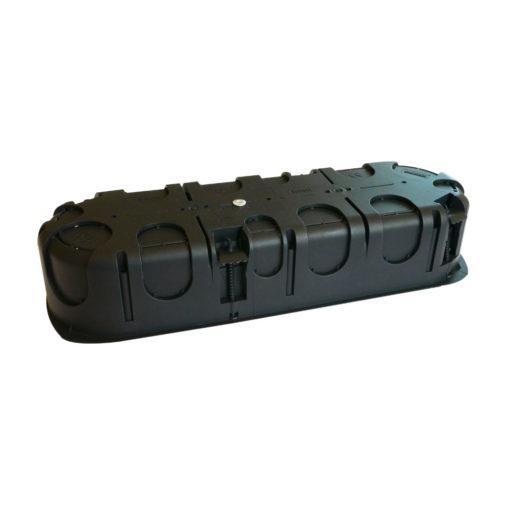 boitier électrique blindée / faradisé triple rond multimatériaux (tout type de cloisons : maçonnerie, cloisons sèches) diamètre 67 mm profondeur 40 mm