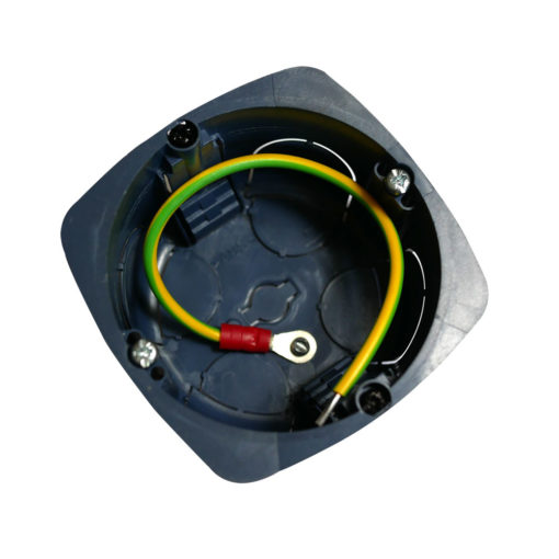 boitier électrique blindée / faradisé rond multimatériaux (tout type de cloisons : maçonnerie, cloisons sèches) diamètre 67 mm profondeur 40 mm