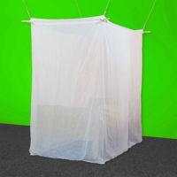 Baldaquin 1 place de forme box en tissu anti-ondes hautes (36 dB à 1 GHz) SWISS SHIELD VOILE