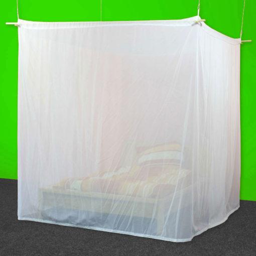 Baldaquin 2 places de forme box en tissu anti-ondes hautes (36 dB à 1 GHz) SWISS SHIELD VOILE.