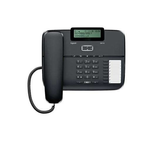 téléphone filaire avec prise casque et fonction mains libres / haut-parleur de marque GIGASET