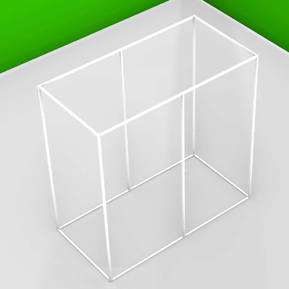 Structure autoportante pour baldaquin ou zone anti-ondes 1 personne (Lxlxh) 207.5 x 105 x 207.5 cm