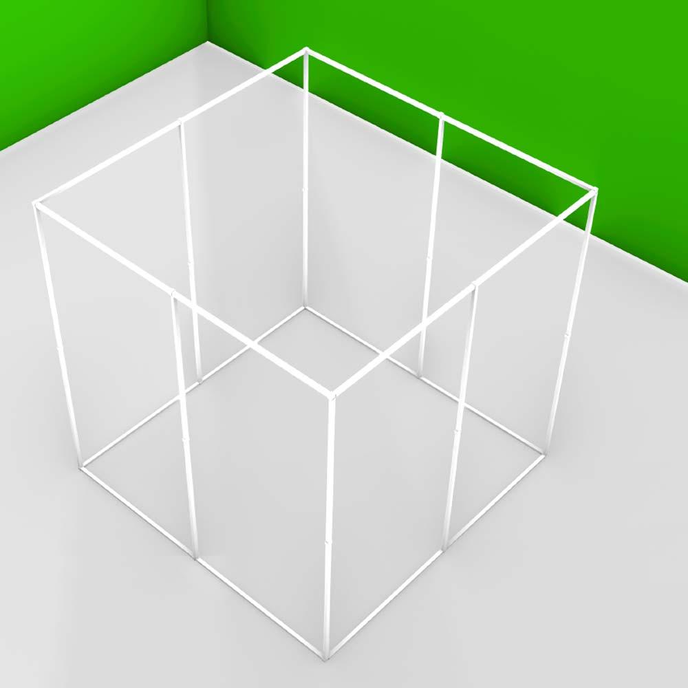 Structure autoportante pour baldaquin ou zone anti-ondes 2 personnes (Lxlxh) 207.5 x 207.5 x 207.5 cm