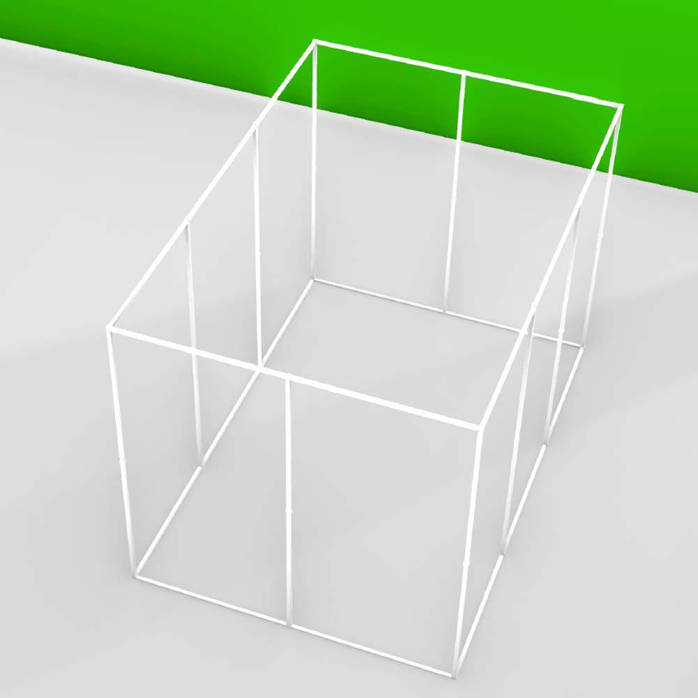Structure autoportante pour baldaquin ou zone anti-ondes personnalisable