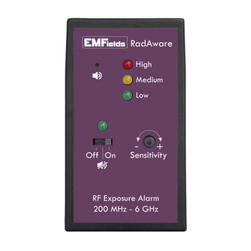 Détecteur/Alarme personnelle d'exposition aux pollutions électromagnétiques Hyperfréquences Emfields RADAWARE RD1